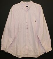 Polo Ralph Lauren Big & Tall Mens Pink Striped Oxford Button-Front Shirt NWT 1XB