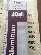 """New Bali Cut-to-Width White 1"""" Room Darkening Aluminum Mini Blind 23�X64�"""