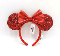 2020 Minnie Ears Red Sequin Bow Mickey Mouse Redd Pirate Disney Parks Headband