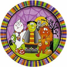 Little Monster 7'' Plates Birthday Party Tableware Kids Paper Serving Disposable