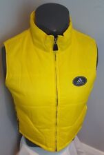 Vintage Adidas Sleevless Yellow Puffer Vest  Front Zip Size M