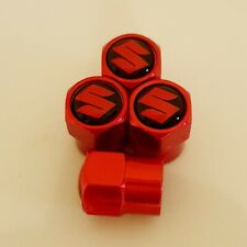SUZUKI metal Wheel Valve Dust caps all models Red 5 colors Xmas stocking bike1