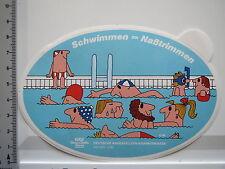 Aufkleber Sticker DAK - Krankenkasse - Schwimmen (5503)
