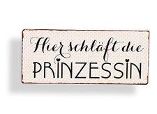 Wandschild Prinzessin Metall Shabby Dekoschild  Dekoration