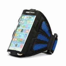 For iPhone 6 6S Blue Premium Sports Mesh Running Armband Case Cover Holder