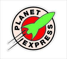 Futurama Planet Express Vynil Car Window Sticker Decal Hard Hat Helmet Decor