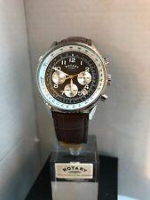 Rotary Men's Chronospeed Chronograph quartz- brown Leather Strap Watch GB03351