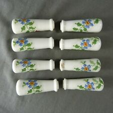 Set Vintage French Porcelain Door Lever Handles Canvas Decor Porcelain of Paris