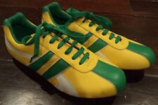 Davide Vitale Mens Sneakers Shoes Yellow Green White David Sz 42  8.5