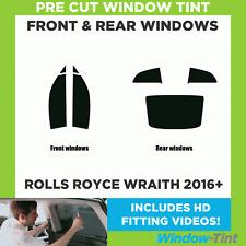 Pre Cut Window Tint - Rolls Royce Wraith 2016+ - Full Kit