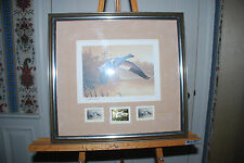 1988-89 Daniel Smith Federal Duck Stamp Print Silver/Gold Medallion Edition