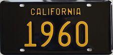 1960 Black California style novelty / souvenir license plate