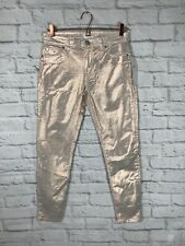 Hudson Jeans Metallic Midrise Nico Supper Skinny Ankle Jeans Size 27
