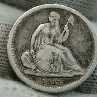 1837 Seated Liberty Dime 10C  - Nice Coin, Free Shipping (9832)