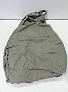 """Wangrenl 35.4"""" x 43.4"""" Gray Bean Bag Chair Cover Replacement Large Lazy Chair"""