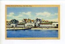 Martha's Vineyard Ma Mass Oak Bluffs, Bathing Beach, Bath House, 1949 linen