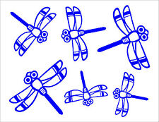 6x DRAGONFLY stickers decals.Window,tile,baby kid wall art,car,caravan.26colours