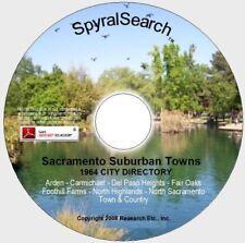 CA - Arden - Carmichael - Fair Oaks - N Highlands Area 1964 City Directory CD