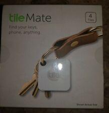 tile Mate T3001, Item Tracker, Bluetooth, Find Keys, Phone, Wallet, 4 Pack