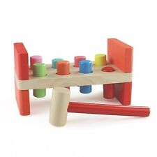 Montessori Wooden Pounding Bench with Mallet for Toddlers