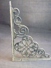 Vintage Wrought Iron Plant Hanger Ornate Decorative Steel Shelf Support Bracket