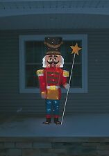 "Christmas Lifesize 65"" Tinsel Nutcracker Toy Soldier Holiday Decoration"