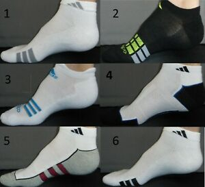 ADIDAS Sock Mens Sz 10-13 Shoe Sz 6-12.5 Low Cut Athletic Sport Crossfit Large L