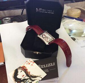 BRAND NEW Misuzu Limited Edition steel & diamond Watch