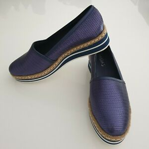 """""""Midas"""" Size 40, Ladies Blue Flat Loafers. Great Condition. Bargain Price."""