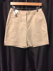 Brooks Brothers 346 Advantage Women's Khaki Flat Casual Cotton Shorts Size 6