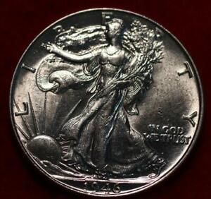 Uncirculated 1946 Philadelphia Mint Silver Walking Liberty Half