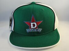 Detroit Stars Negro League Fitted Hat Cap 360 Rotating Bill Green White