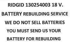 RIDGID 130254003 18 V. MAX HC REBUILDING SERVICE
