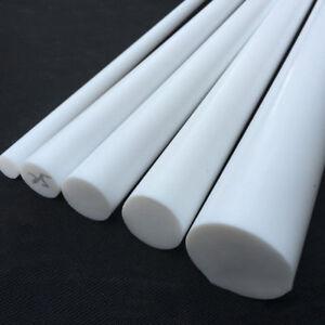 White PTFE  Round Rod Bar 5mm/6mm/8mm/10mm/12mm Dia 100/200/300mm Long