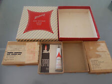 50s red stripe empty zippo gift box and 2 60s return boxes