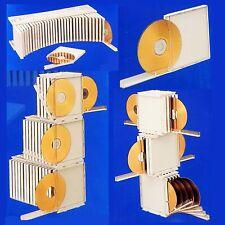 5 Packs 10 DISC CD DVD Organizer Storage Case Rack Portable Stackable US Seller