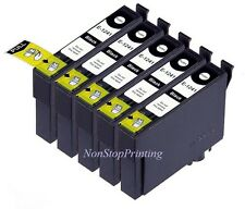 5PK BK Ink For Epson 124 T124120 WorkForce 320 323 325 435 NX125 127 130 230 330