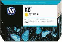 GENUINE AUTHENTIC HEWLETT PACKARD HP 80 YELLOW INK CARTRIDGE 175ML C4873A