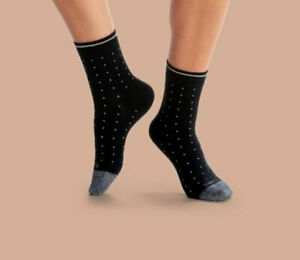 Bombas Lightweight Microdot Quarter Sock - Black - Women's Medium