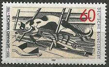 Germany (West) 1989 MNH - Cats in the Attic Woodcut Gerhard Marcks
