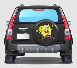 Spare Wheel Cover 4x4 Graphic Sticker Sponge Bob 500MM contour cut graphic