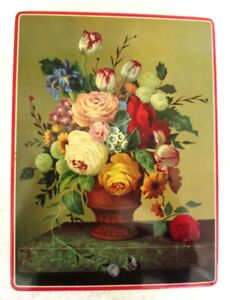 1950s Gary Dunn Floral Biscuit Tin