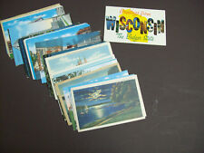WISCONSIN POSTCARD LOT 50 POSTCARDS