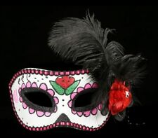 DAY OF THE DEAD Máscara - Plumas FANTASMA - Fantasía de pestañas ACCESSORIE