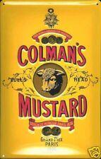 More details for colmans mustard embossed steel sign 300mm x 200mm (hi)