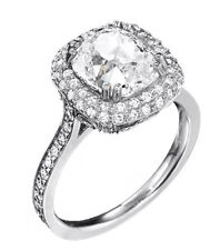 2.38 Ct Cushion Cut Diamond Engagement Ring 18K Gold