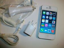 GOOD!!! Apple iPhone 4 White 8GB WIFI CDMA Touch VERIZON Smartphone A1349 BUNDLE