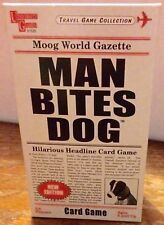 Man Bites Dog Card Game - UNIVERSITY GAMES -New Edition TRAVEL GAME VGC COMPLETE