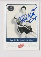 2001 Greats of the Game Red Kelly Detroit Red Wings Autographed Card