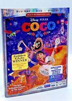 Coco (Blu-ray+DVD+Digital, 2018; 3-Disc Set; Multi-Screen Ed.) NEW w/ Slipcover